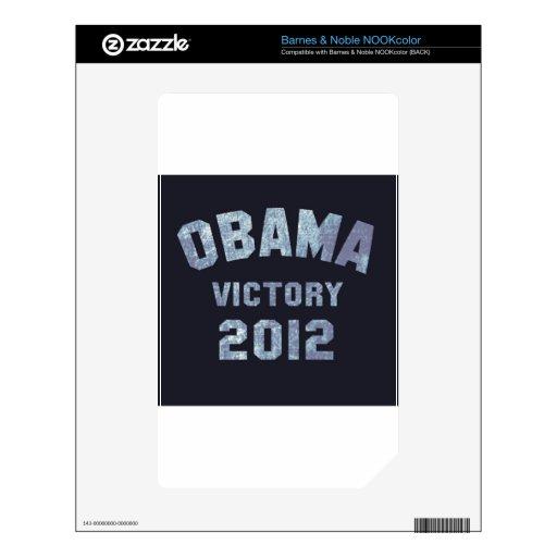 Obama Victory 2012 Skin For NOOK Color