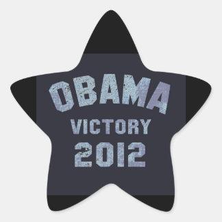 Obama Victory 2012 Star Stickers