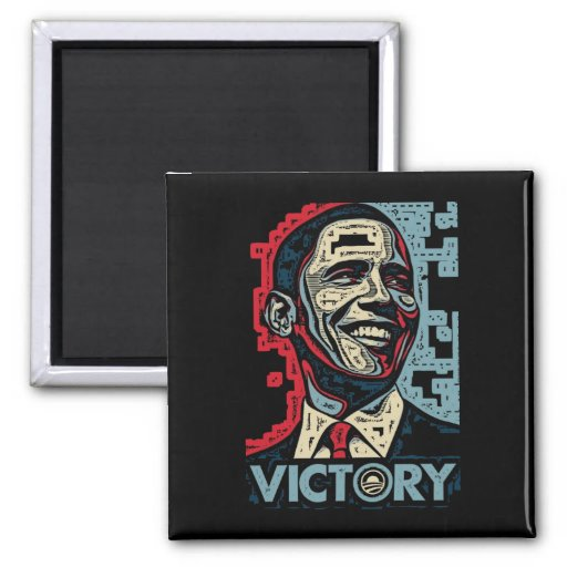 Obama Victory 2 Inch Square Magnet
