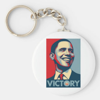 Obama_Victory Basic Round Button Keychain