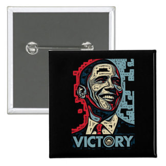 Obama Victory Pinback Button