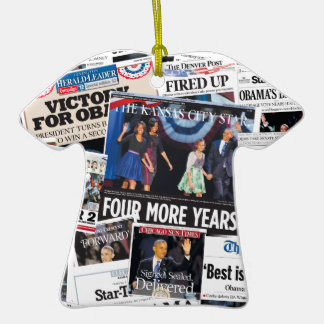 Obama Victory Collage 2012 Christmas Ornament