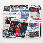 Obama Victory International Headline Collage Mouse Mats