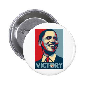 Obama_Victory Pin Redondo De 2 Pulgadas