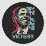 Obama Victory Round Stickers