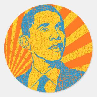 Obama Vintage Classic Round Sticker