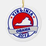 Obama - virginia christmas ornament