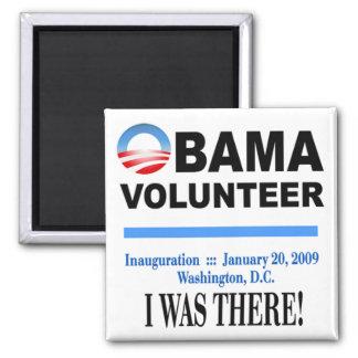 Obama Volunteer Magnet (white)