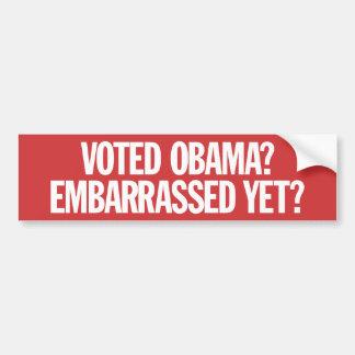 ¿Obama votado? ¿Desconcertado todavía? Pegatina Para Auto