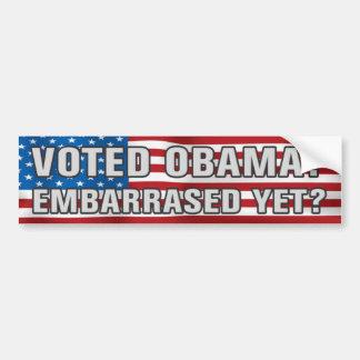 ¿Obama votado? Pegatina para el parachoques Pegatina De Parachoque