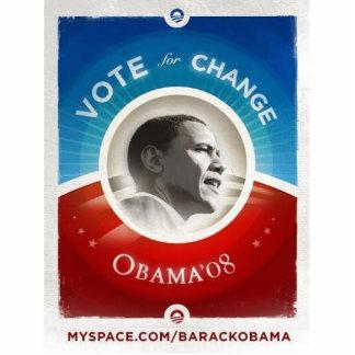 Obama Vote For Change Standing Photo Sculpture