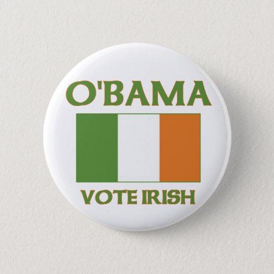 Obama vote Irish button