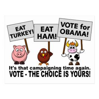 Obama Vote postcard