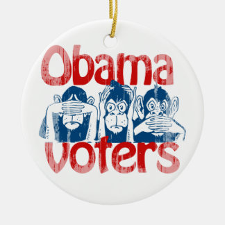 Obama Voters Faded png Ornaments