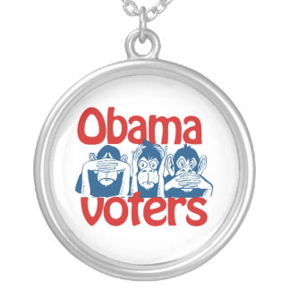 Obama Voters Round Pendant Necklace