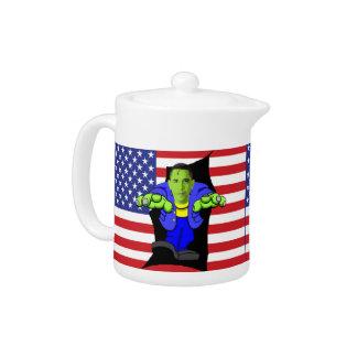 Obama vs America Teapot