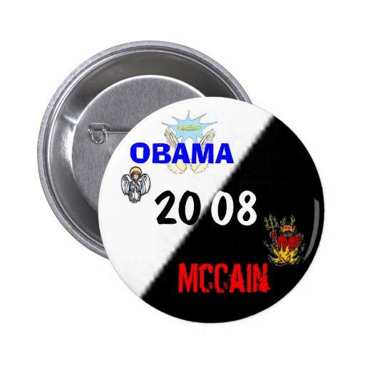 OBAMA vs McCain 2008 Pins