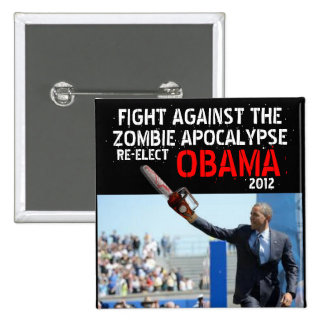 Obama vs Zombies 2012 Pinback Button