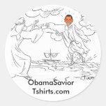 Obama walks on water sticker
