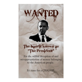 Obama Wanted Poster
