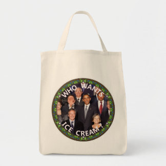 Obama Wants Ice Cream Canvas Bags