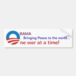 Obama Wars Car Bumper Sticker