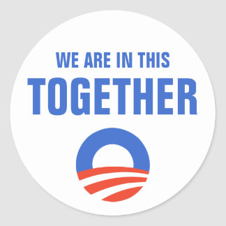 Obama We Are In This Together Sticker