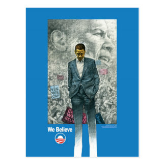 OBAMA WE BELIEVE POST CARD