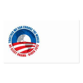 Obama: We Can Change The World Double-Sided Standard Business Cards (Pack Of 100)