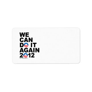 Obama: We Can Do It Again Label
