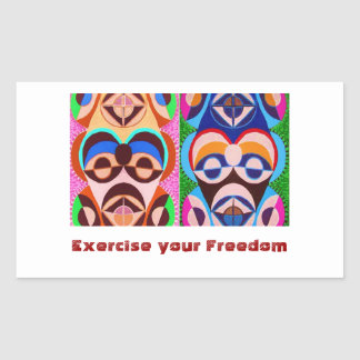 Obama - We can do it !! Exercise your Freedom !!! Rectangular Sticker