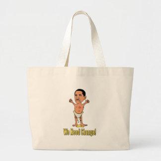 Obama We Need Change Baby Canvas Bag