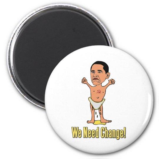 Obama We Need Change Baby Magnet