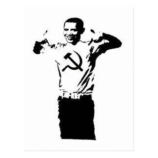 Obama wearing Commie t-shirt Postcard