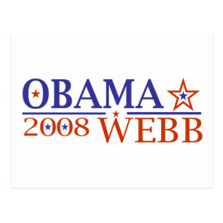 Obama Webb 08 Postcard
