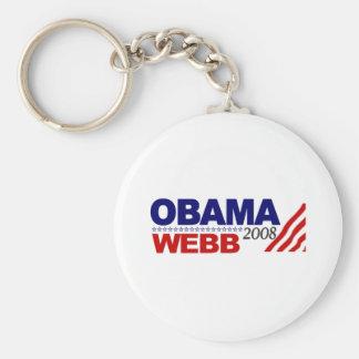 Obama Webb 2008 Llavero