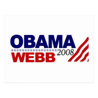 Obama Webb 2008 Postcards