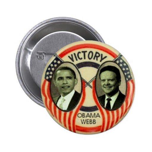 Obama & Webb 2 Inch Round Button