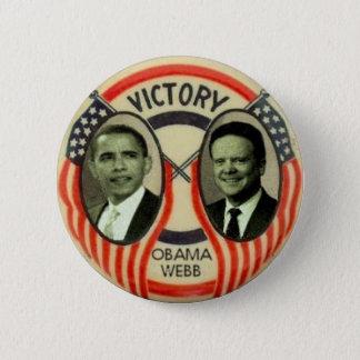 Obama & Webb Pinback Button
