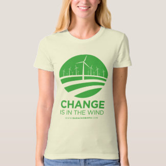 Obama Winds of Change Natural Women's T-Shirt
