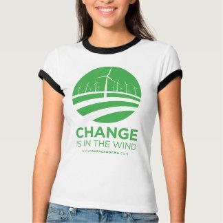 Obama Winds of Change Women's Ringer T-Shirt