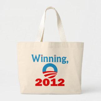 Obama Winning, 2012 Tote Bags