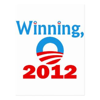 Obama Winning, 2012 Postcard