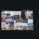 "Obama Wins 2008/2012 Newspaper Collage Purse<br><div class=""desc"">Celebrate President Barack Obama&#39;s Election in 2008 and Re-Election in 2012 with this collage of historic newspaper front pages from the day after each election.</div>"