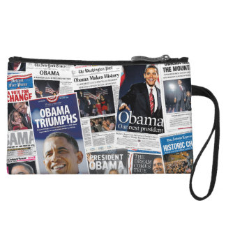 Obama Wins 2008/2012 Newspaper Collage Purse