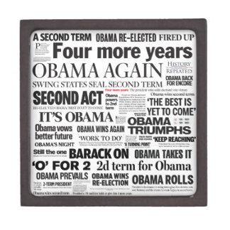 Obama Wins 2012 Headline Collage Gift Box