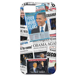 Obama Wins 2012 Newspaper Collage iPhone Case
