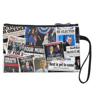 Obama Wins 2012 Newspaper Collage Purse