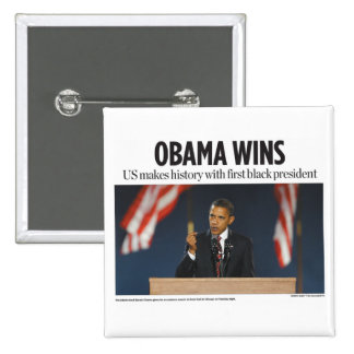 Obama Wins Button