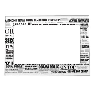 Obama Wins Re-Election Headline Magnet Frame